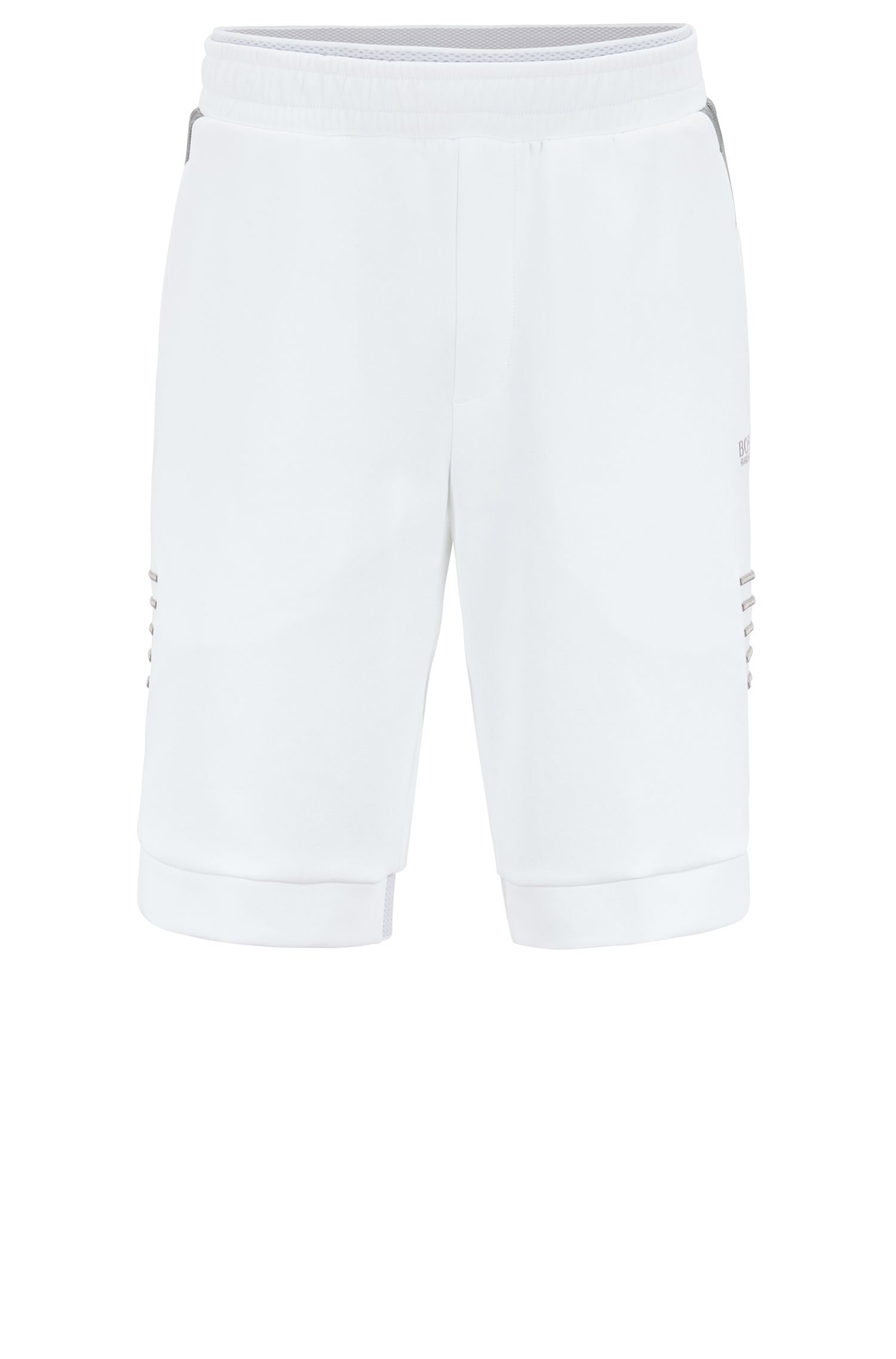 Relaxed-fit shorts in a cotton blend , White