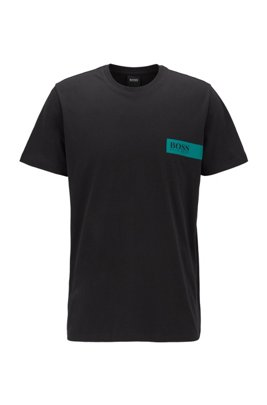 Relaxed-fit underwear T-shirt with chest logo, Black