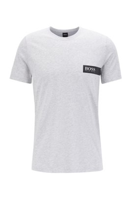 Relaxed-fit underwear T-shirt with chest logo, Silver