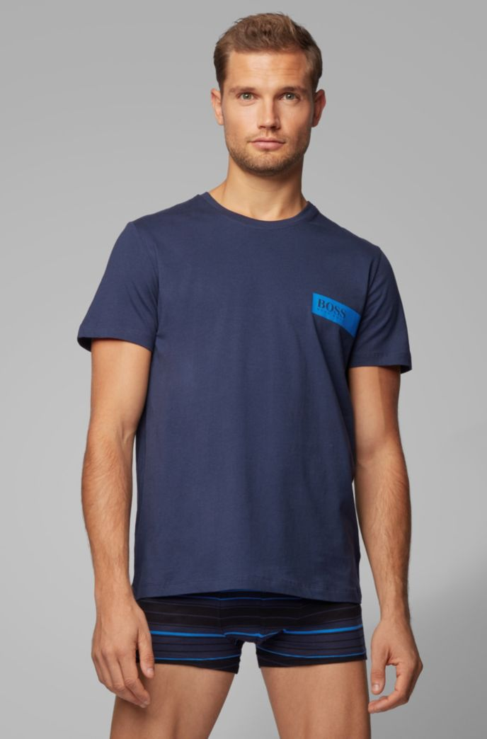 Relaxed-fit underwear T-shirt with chest logo