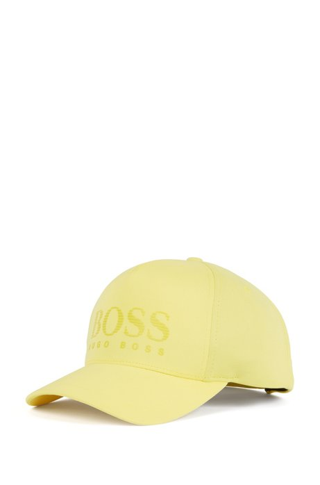 Jersey cap with rubber-print striped logo, Yellow