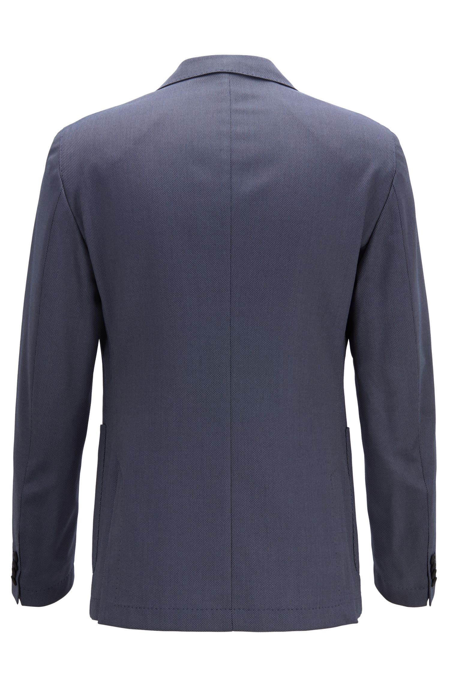 Travel Line slim-fit jacket in a washable fabric, Open Blue