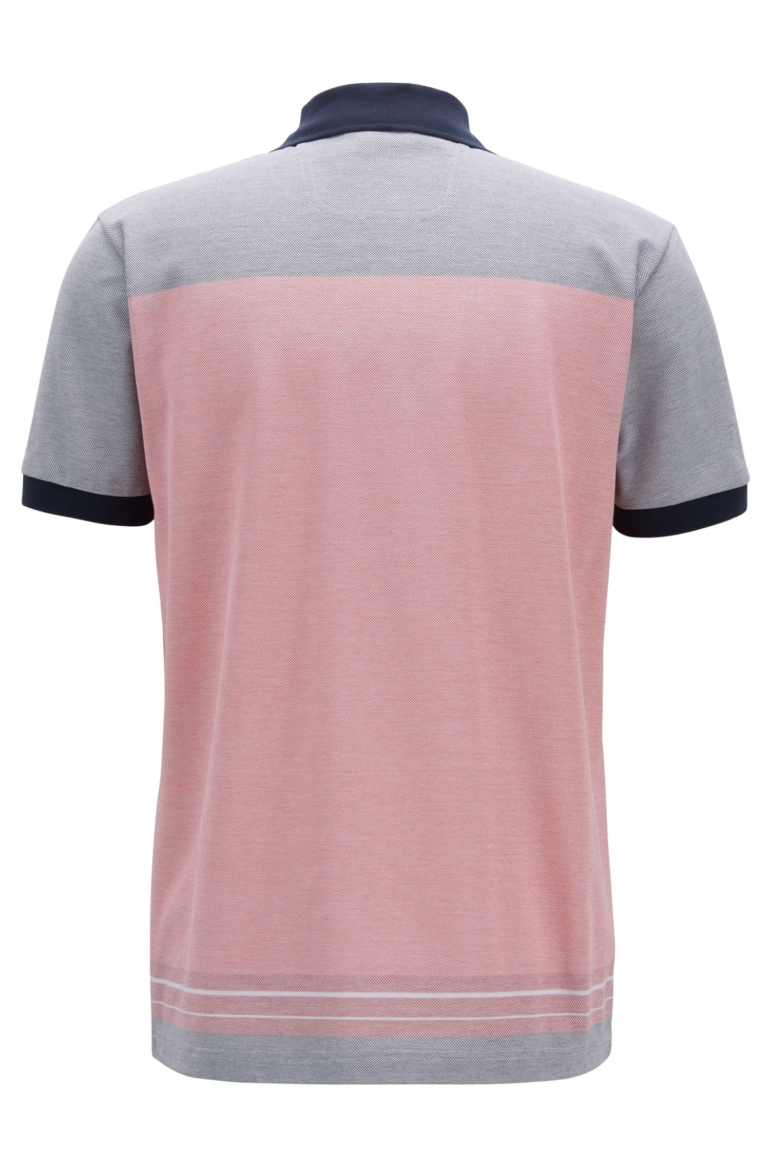 Regular-fit polo shirt in Oxford-cotton piqué , Open Red
