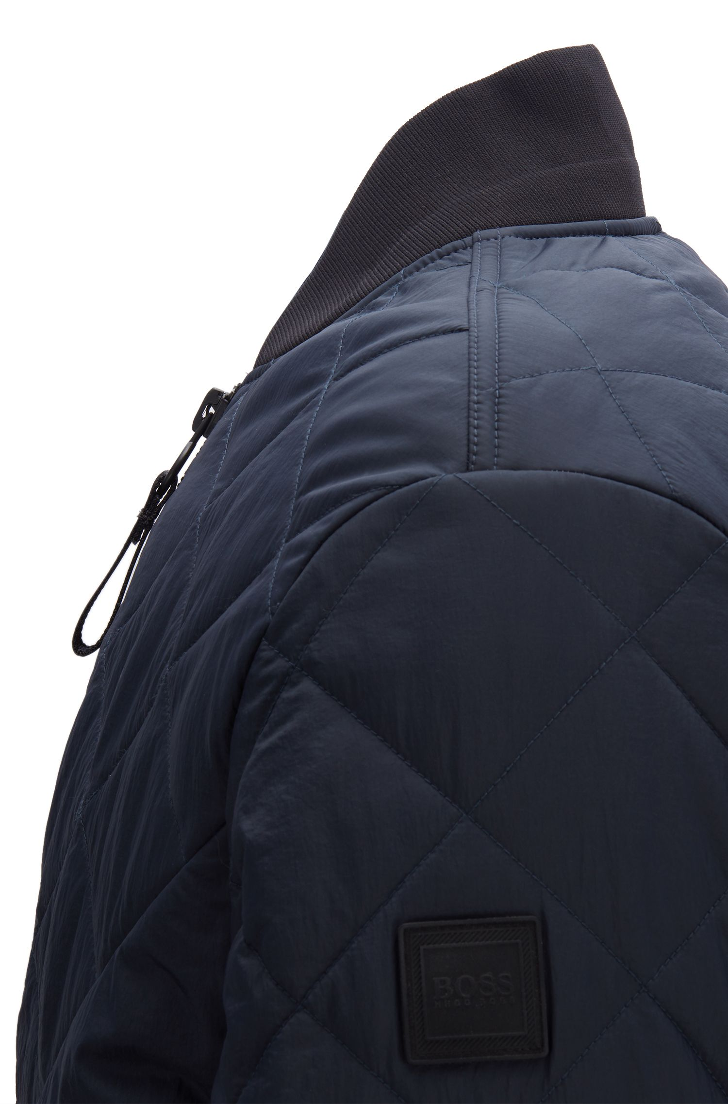 Lightweight water-repellent bomber jacket with PrimaLoft® padding, Dark Blue