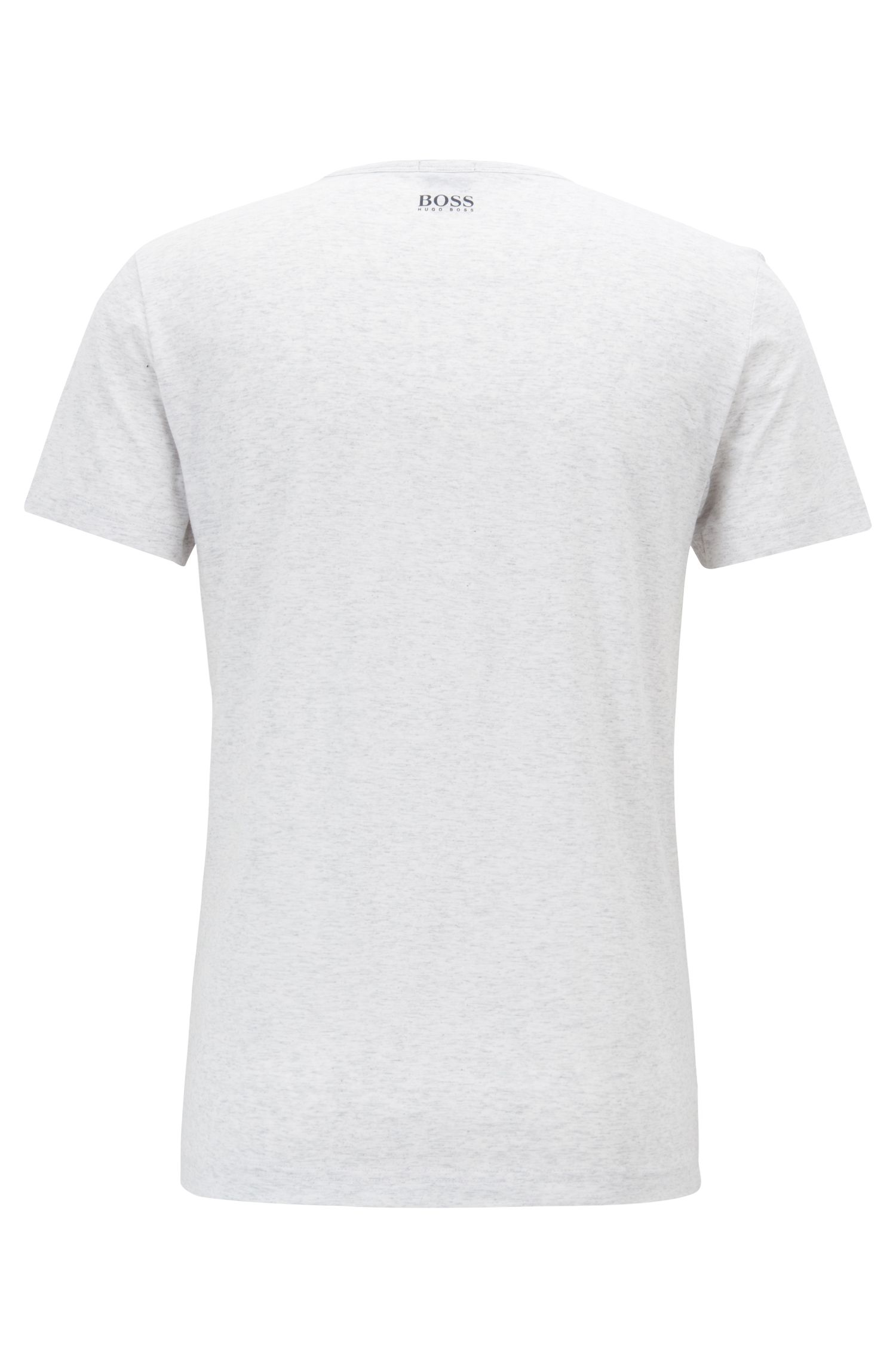 Regular-fit cotton T-shirt with logo artwork, Light Grey