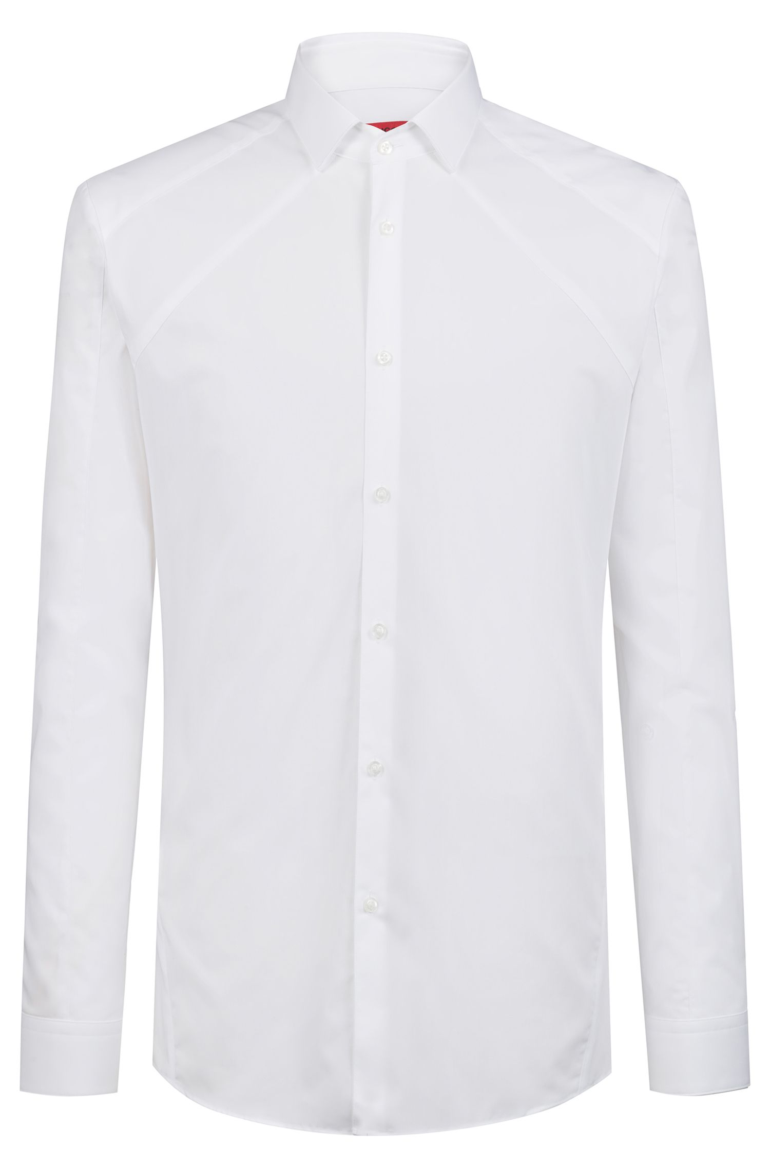 Extra-slim-fit shirt with tonal panel, Open White