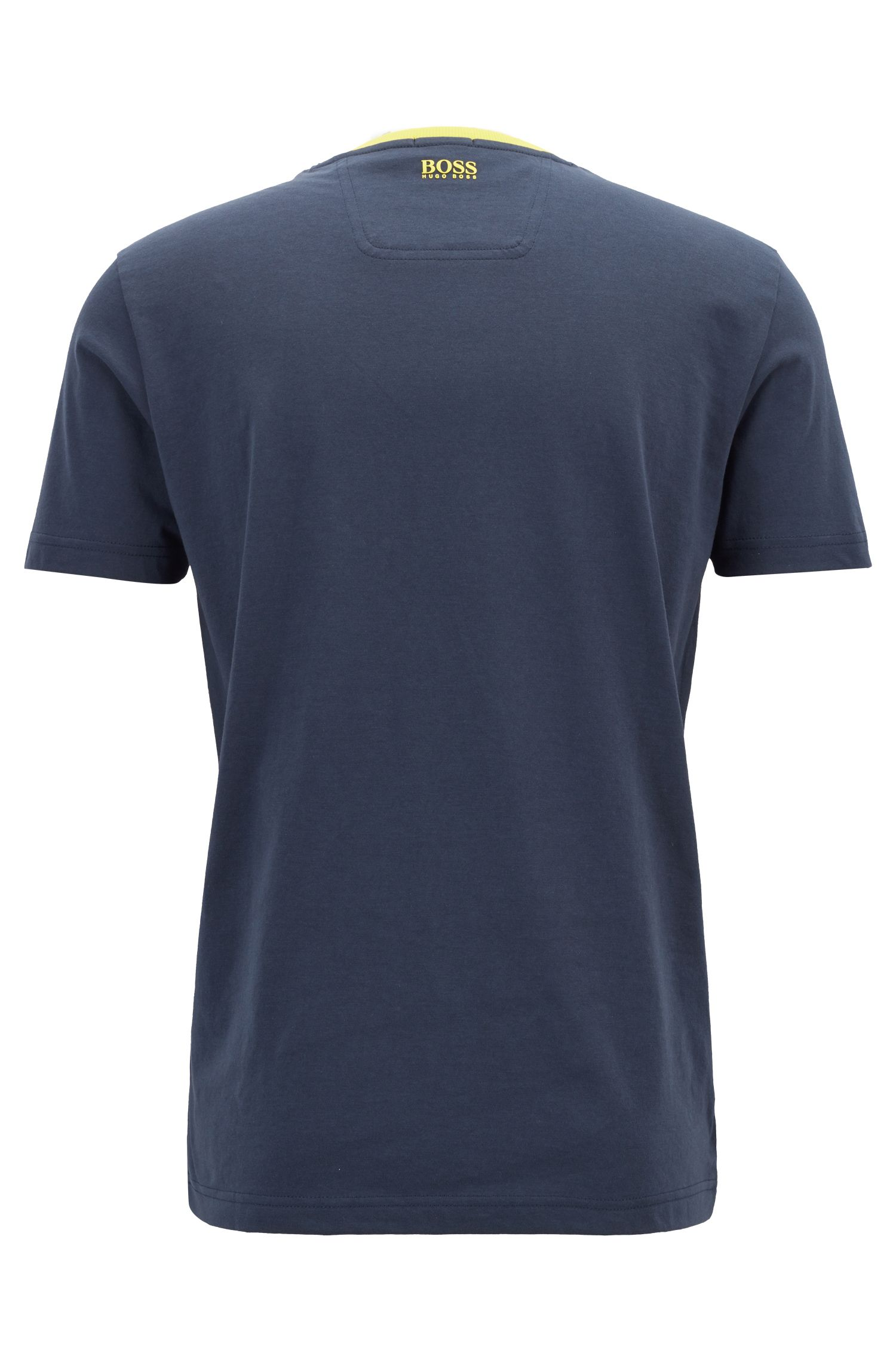 Graphic print T-shirt in eco-friendly jersey, Dark Blue