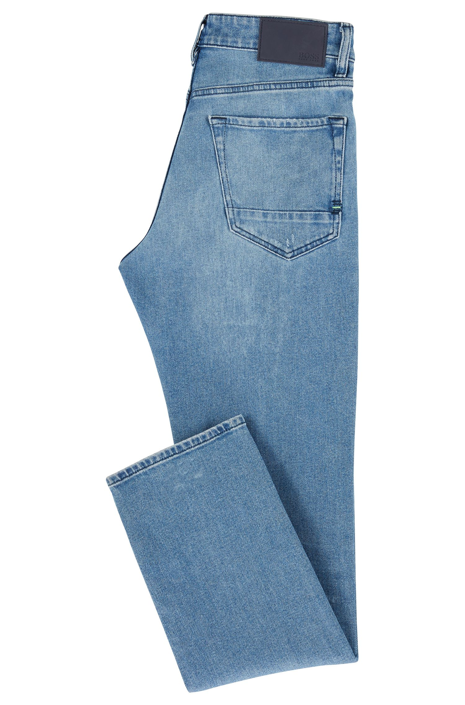 Regular-fit jeans in eco-friendly stretch denim, Blue