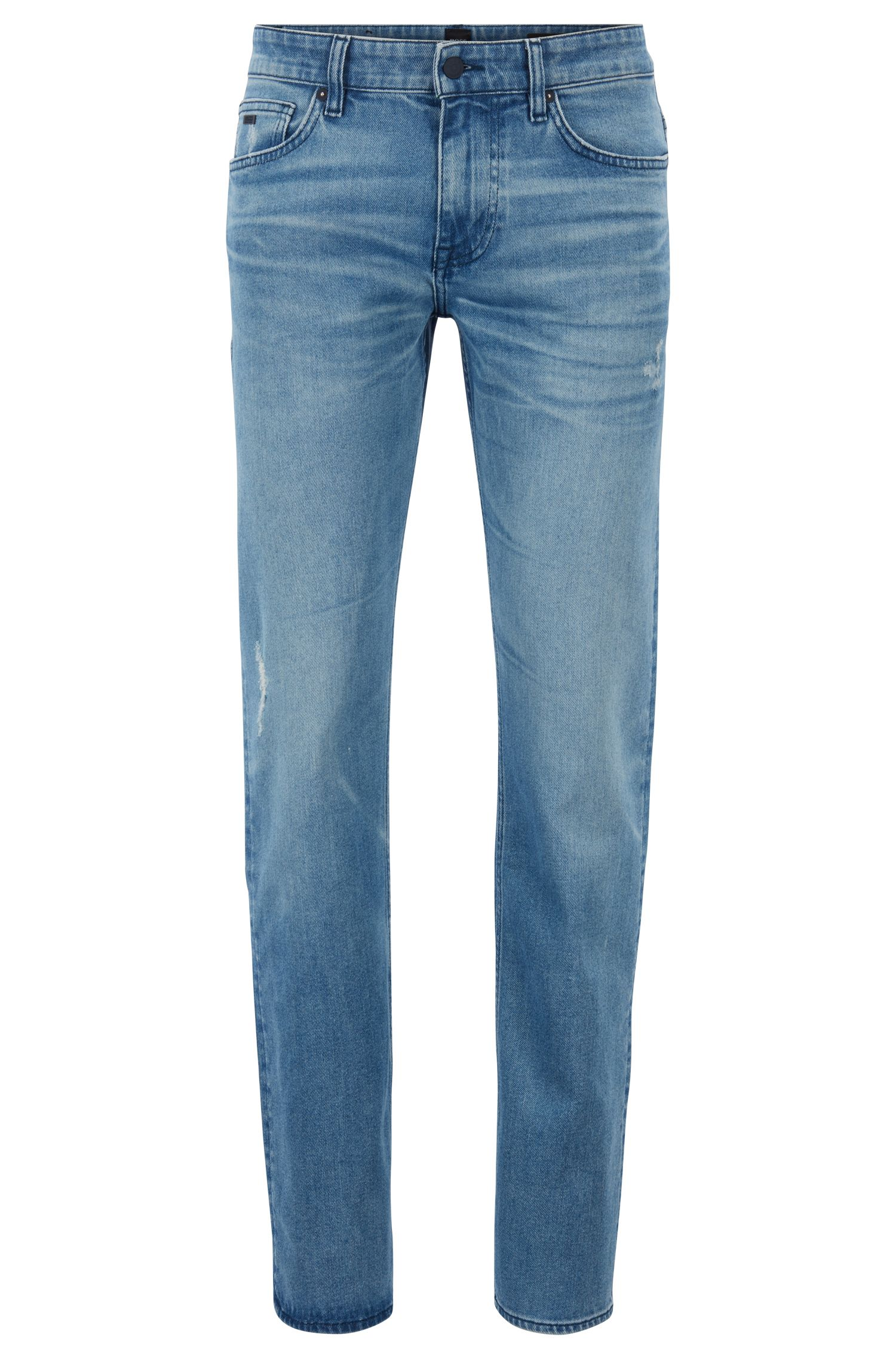 Slim-fit jeans in eco-friendly stretch denim, Blue