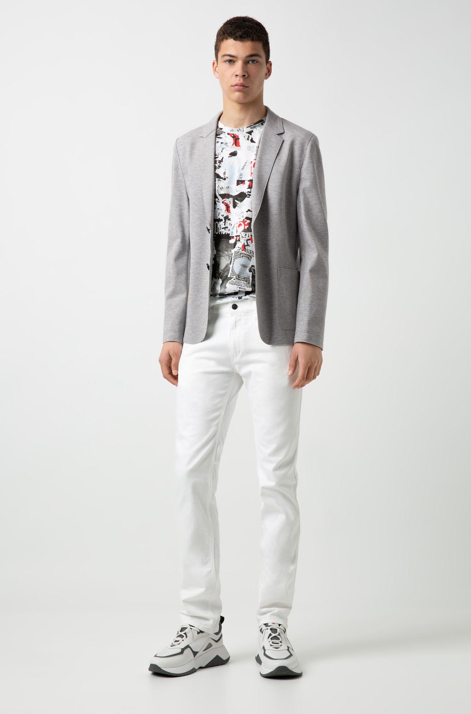 Extra-slim-fit jacket in open-cut jersey, Open Grey