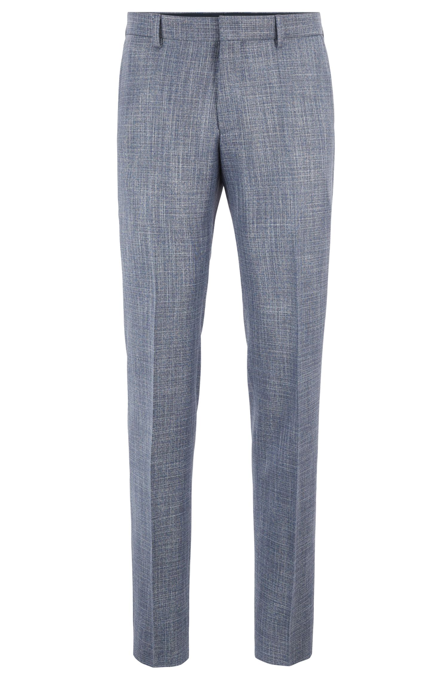 Slim-fit suit in virgin-wool blend, Open Blue