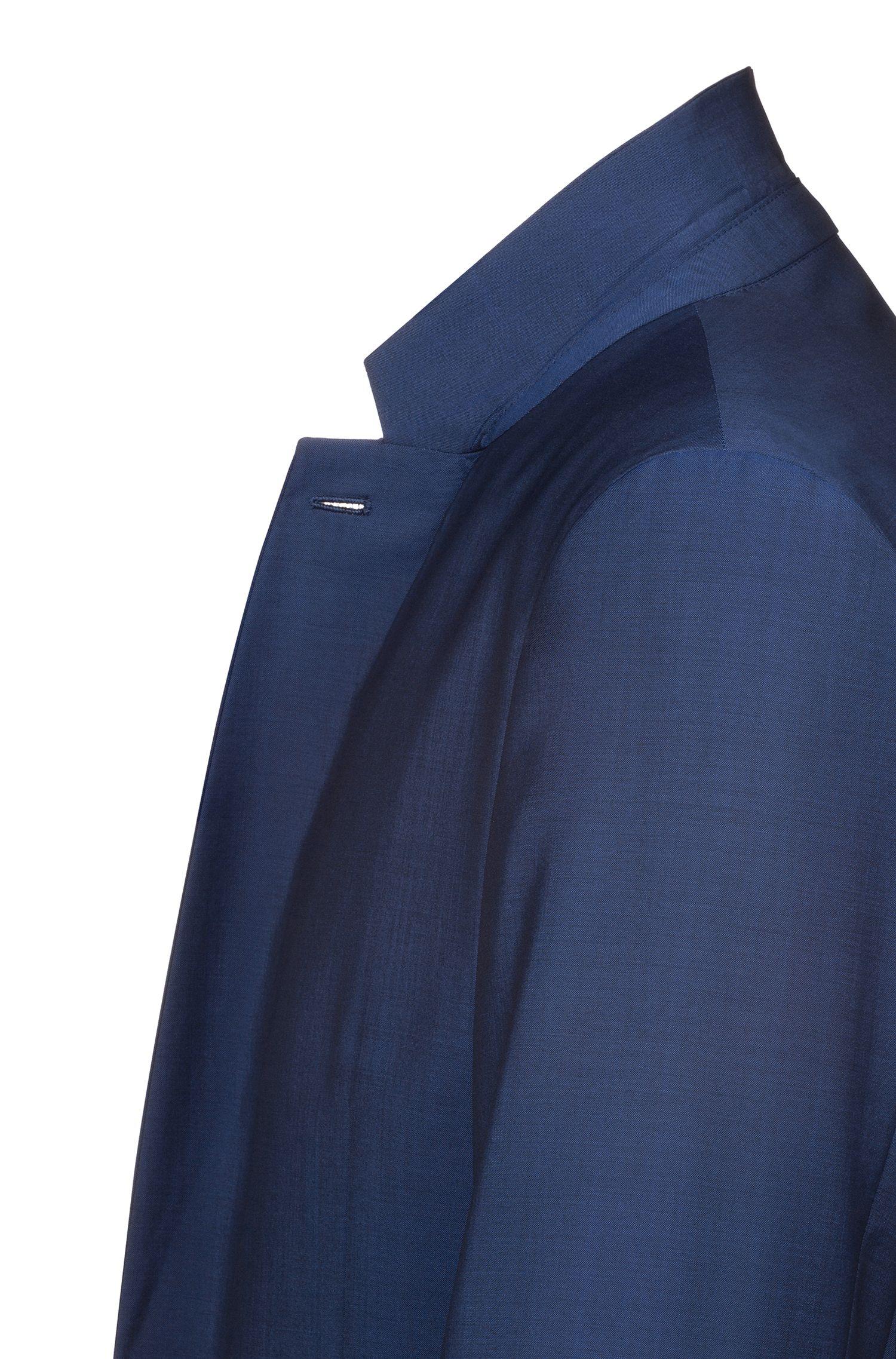 Extra-slim-fit Italian-wool-blend jacket, Blue