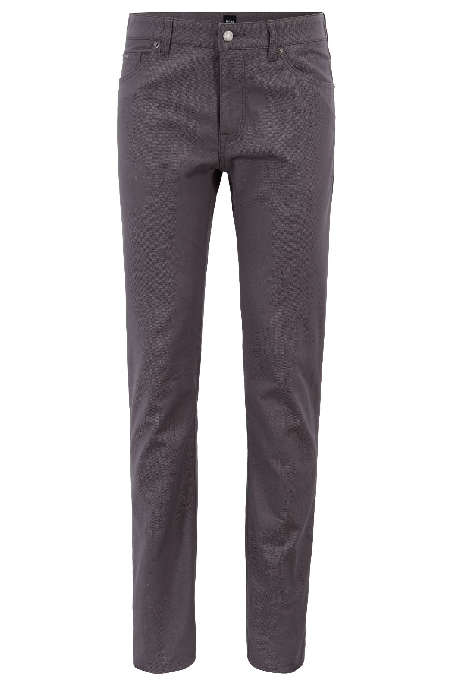 Regular-fit jeans in pin-point structured denim, Grey