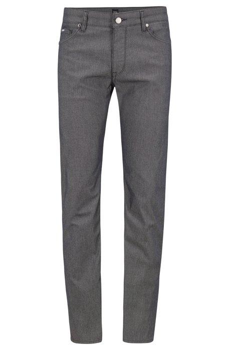 Regular-fit jeans in structured denim twill, Black