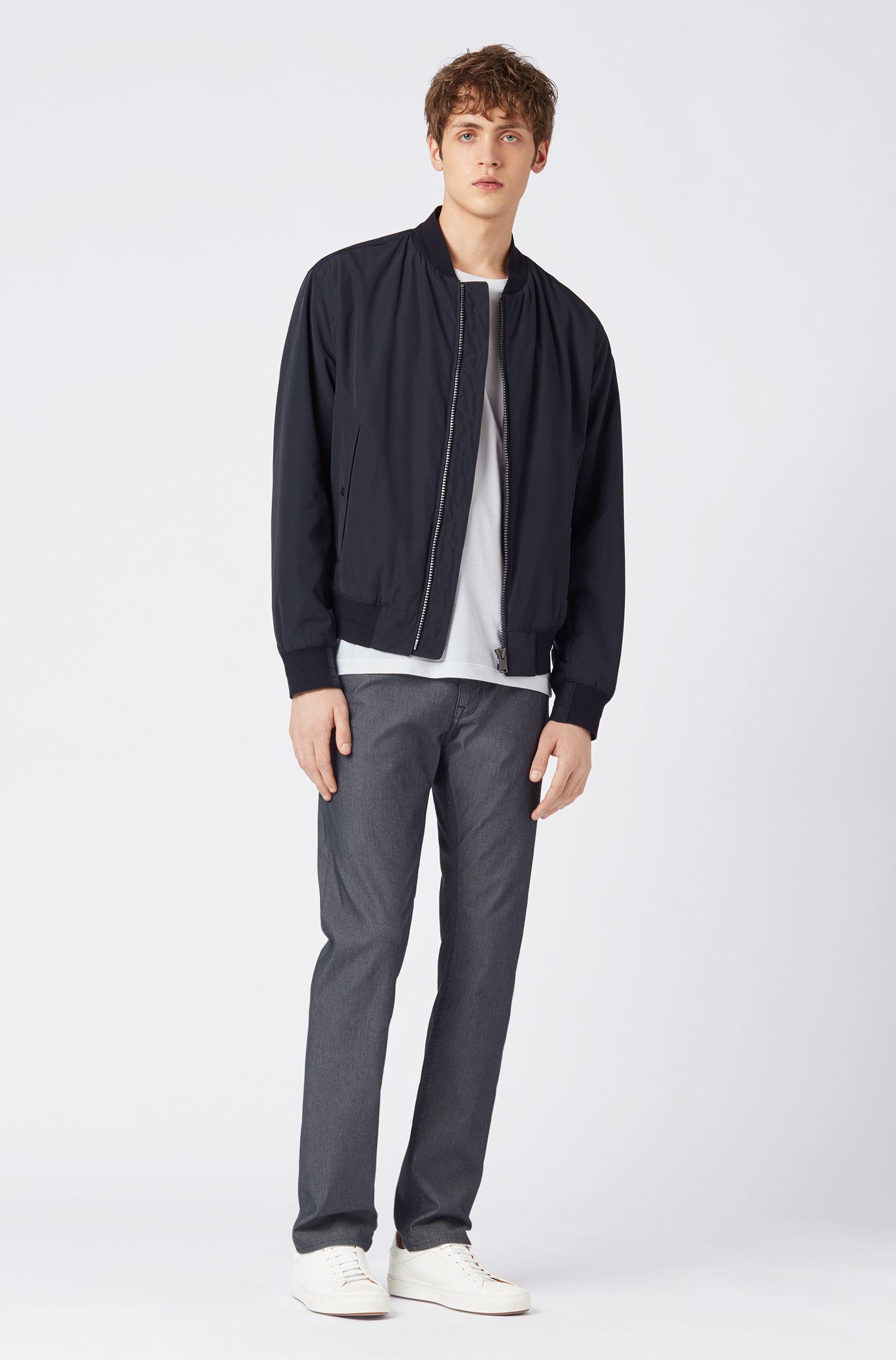 Regular-fit jeans in structured denim twill, Dark Blue
