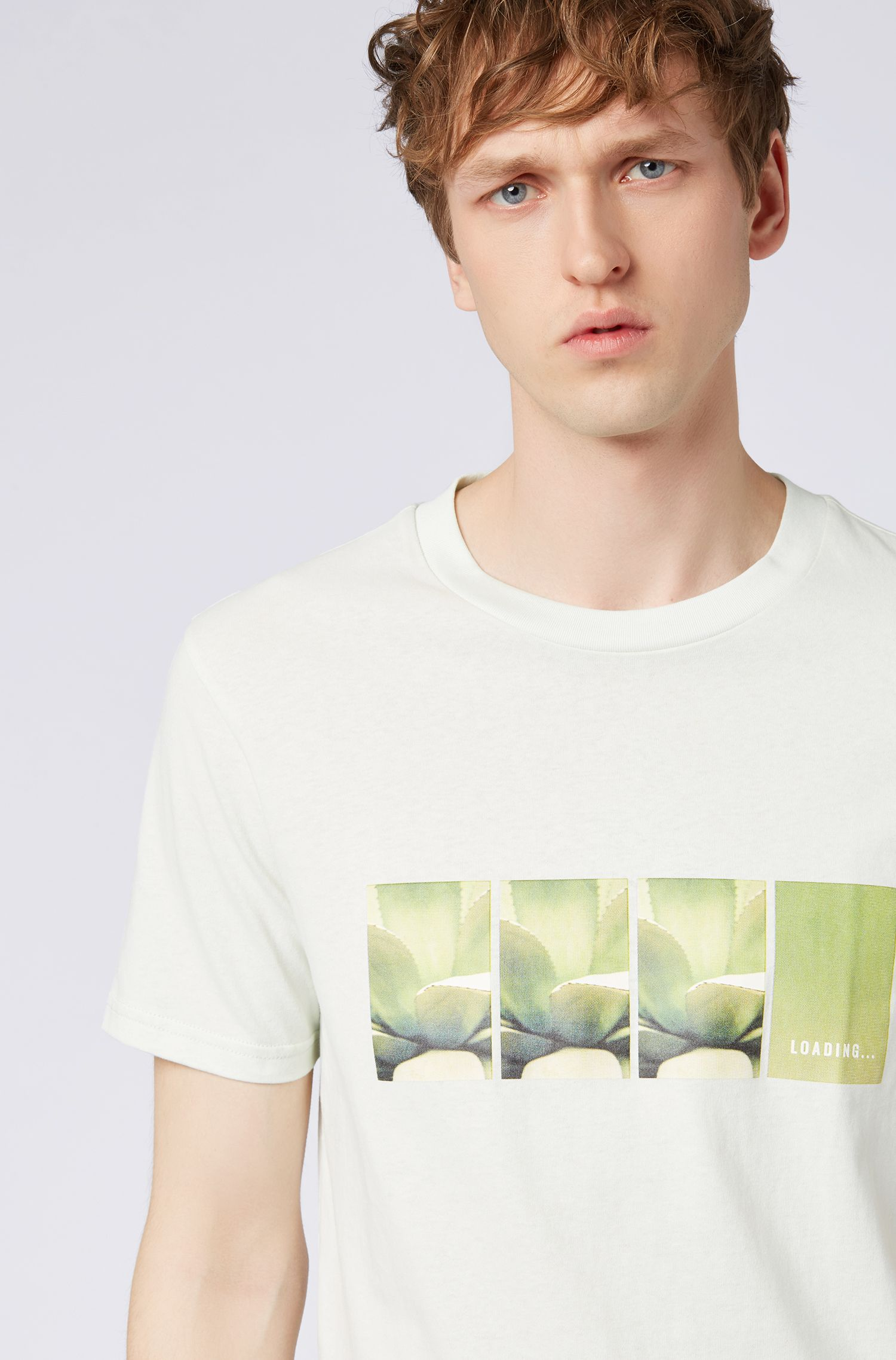 Relaxed-fit T-shirt with seasonal photo print, Light Green