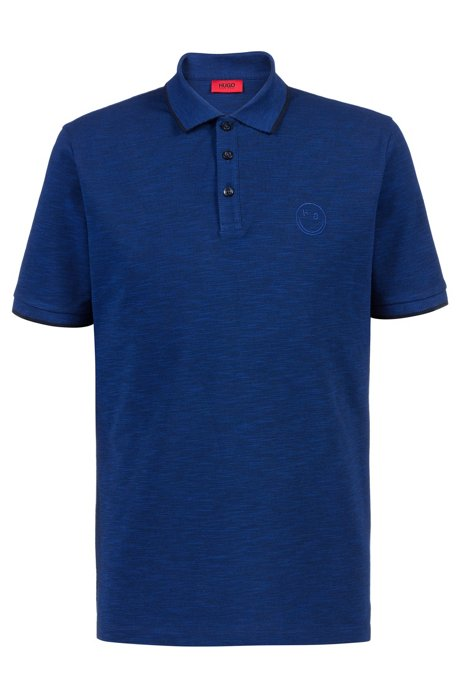 Regular-fit polo shirt with new-season logo, Dark Blue