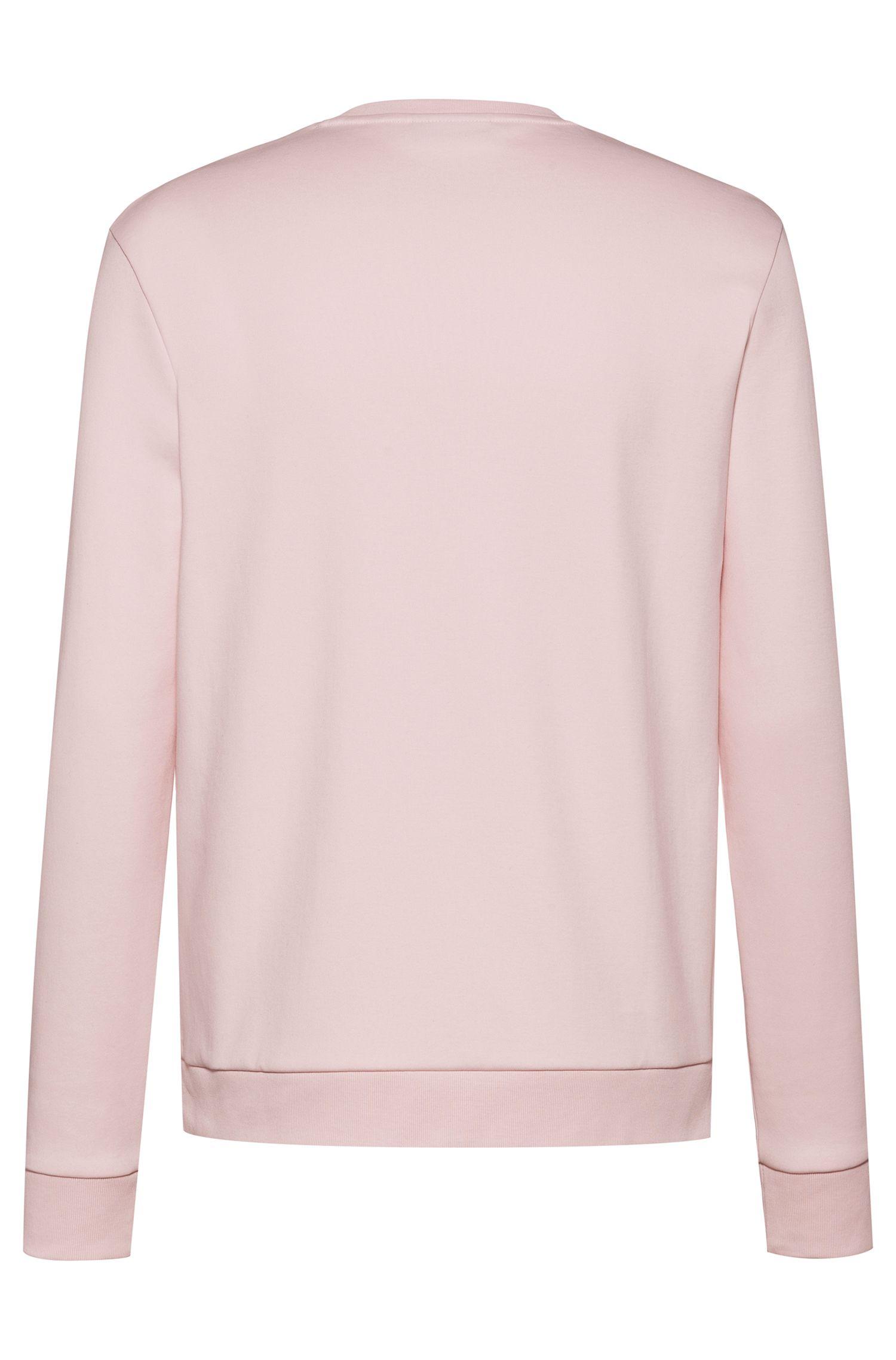Reverse-logo sweatshirt in interlock cotton, light pink