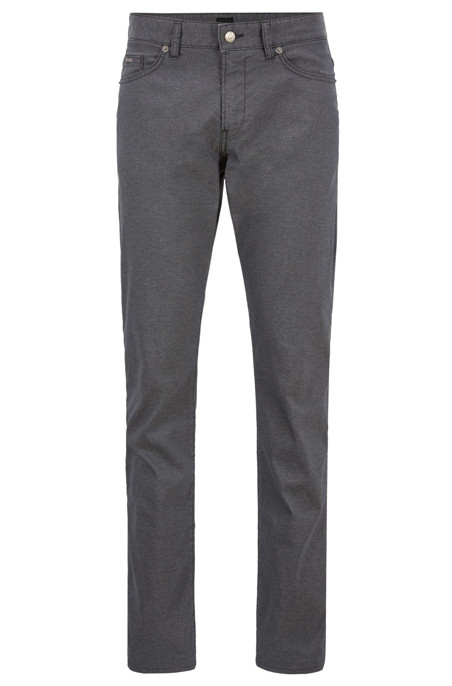 Slim-fit jeans in Italian stretch fabric, Grey
