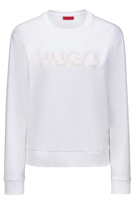 Relaxed-fit sweatshirt in cotton with new-season logo, White