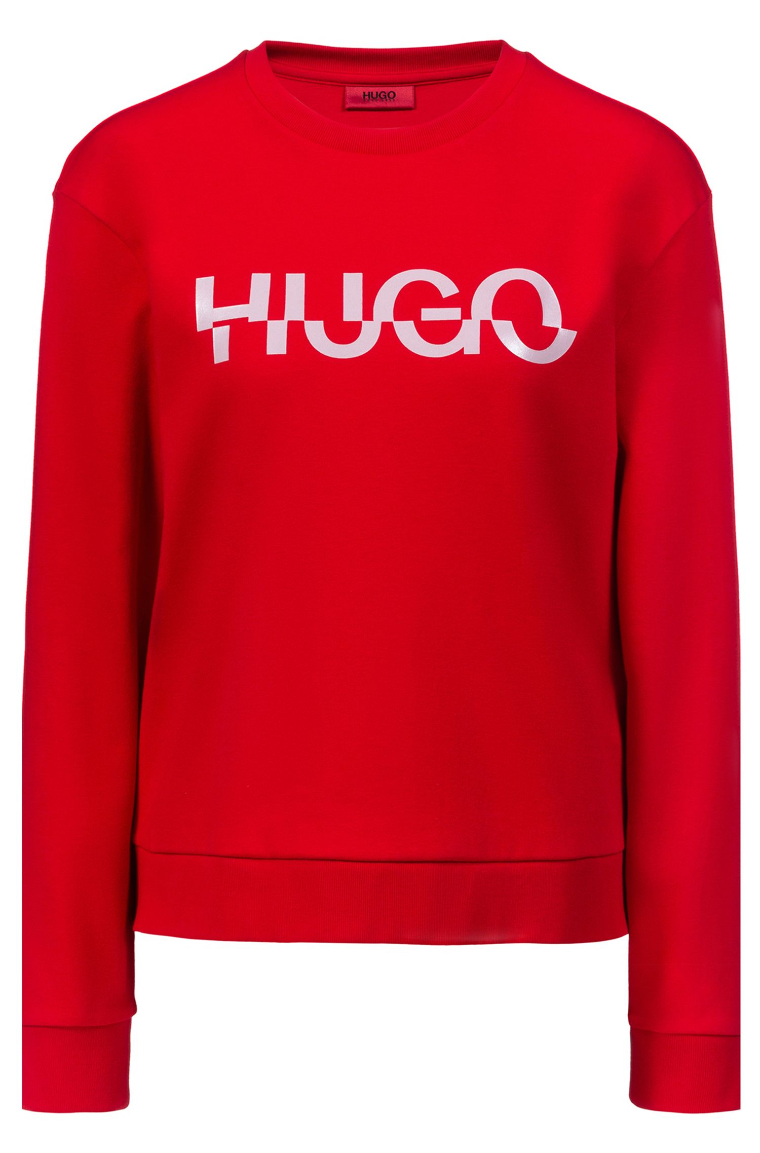 Relaxed-fit sweatshirt in cotton with new-season logo, Open Pink
