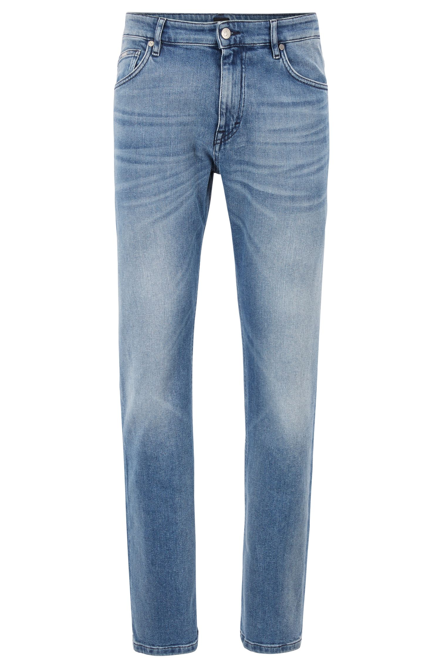 Relaxed-fit jeans in bright-blue BCI denim, Blue