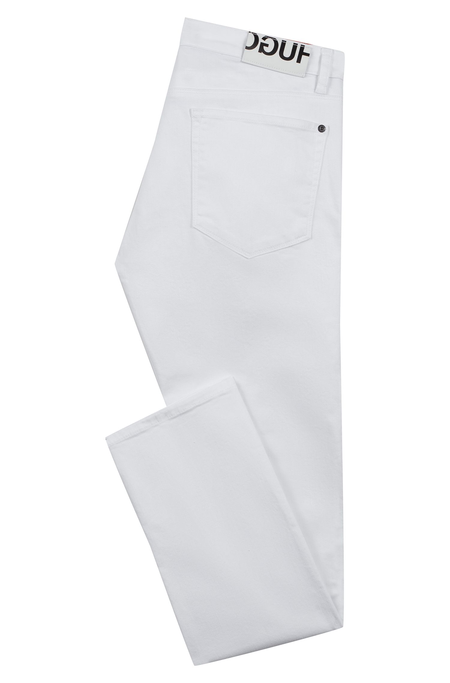 Slim-fit jeans in white stretch denim, White