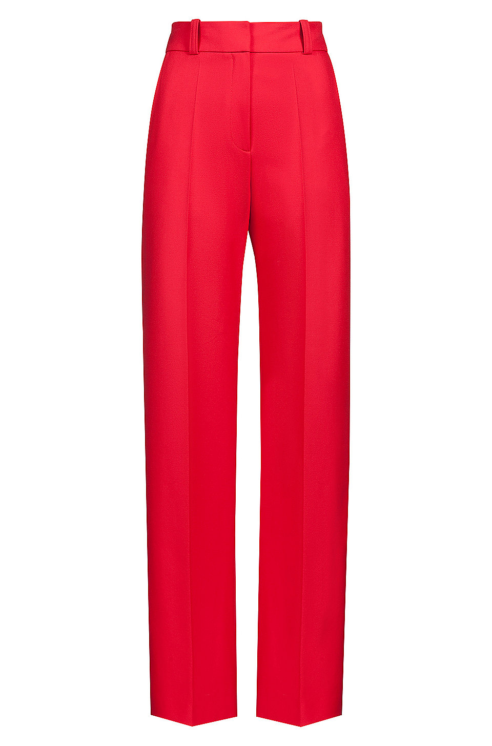 cd82d763 HUGO - High-waisted pants in stretch crepe with wide leg