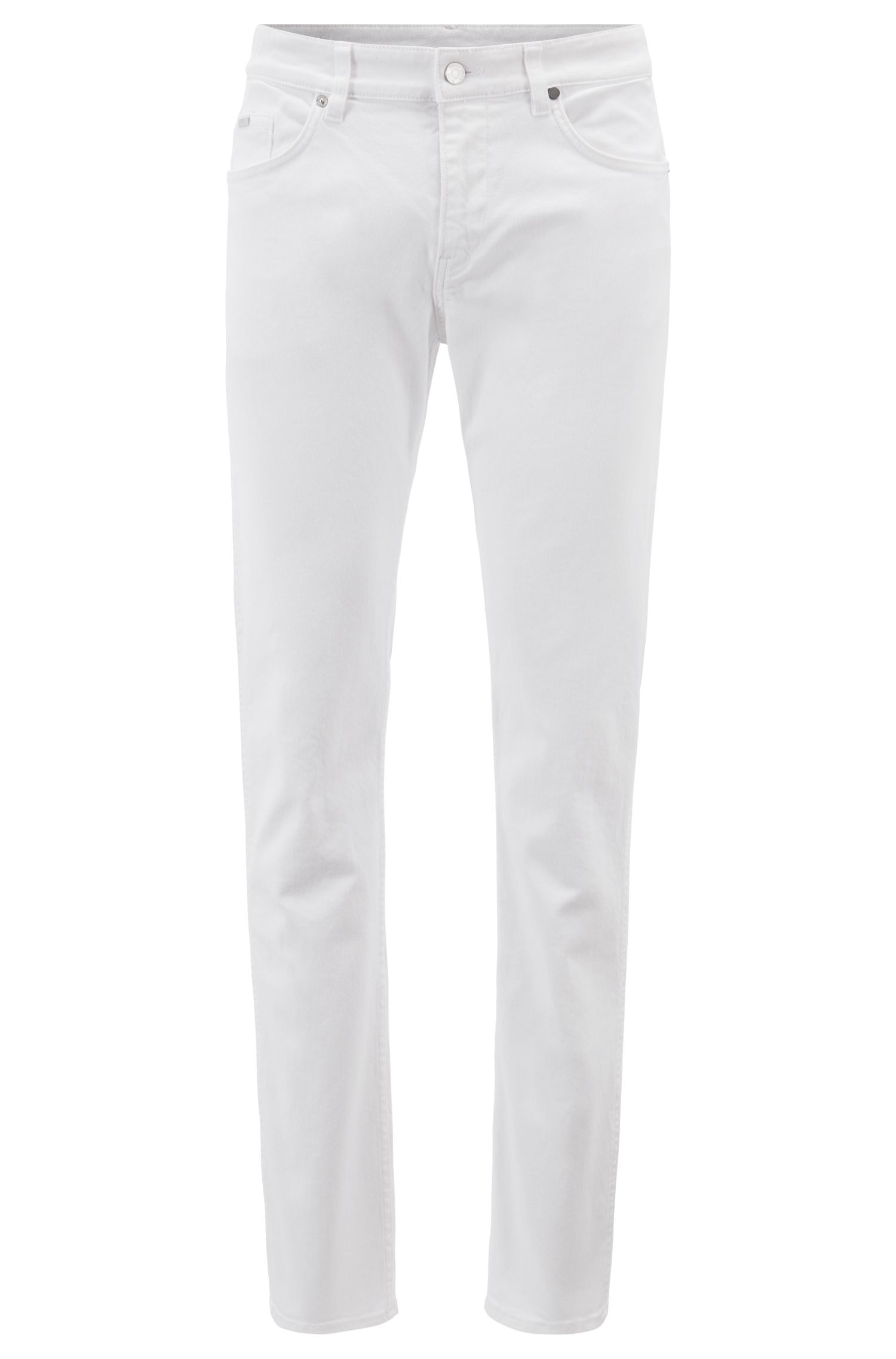 Slim-fit jeans in BCI stretch denim, White
