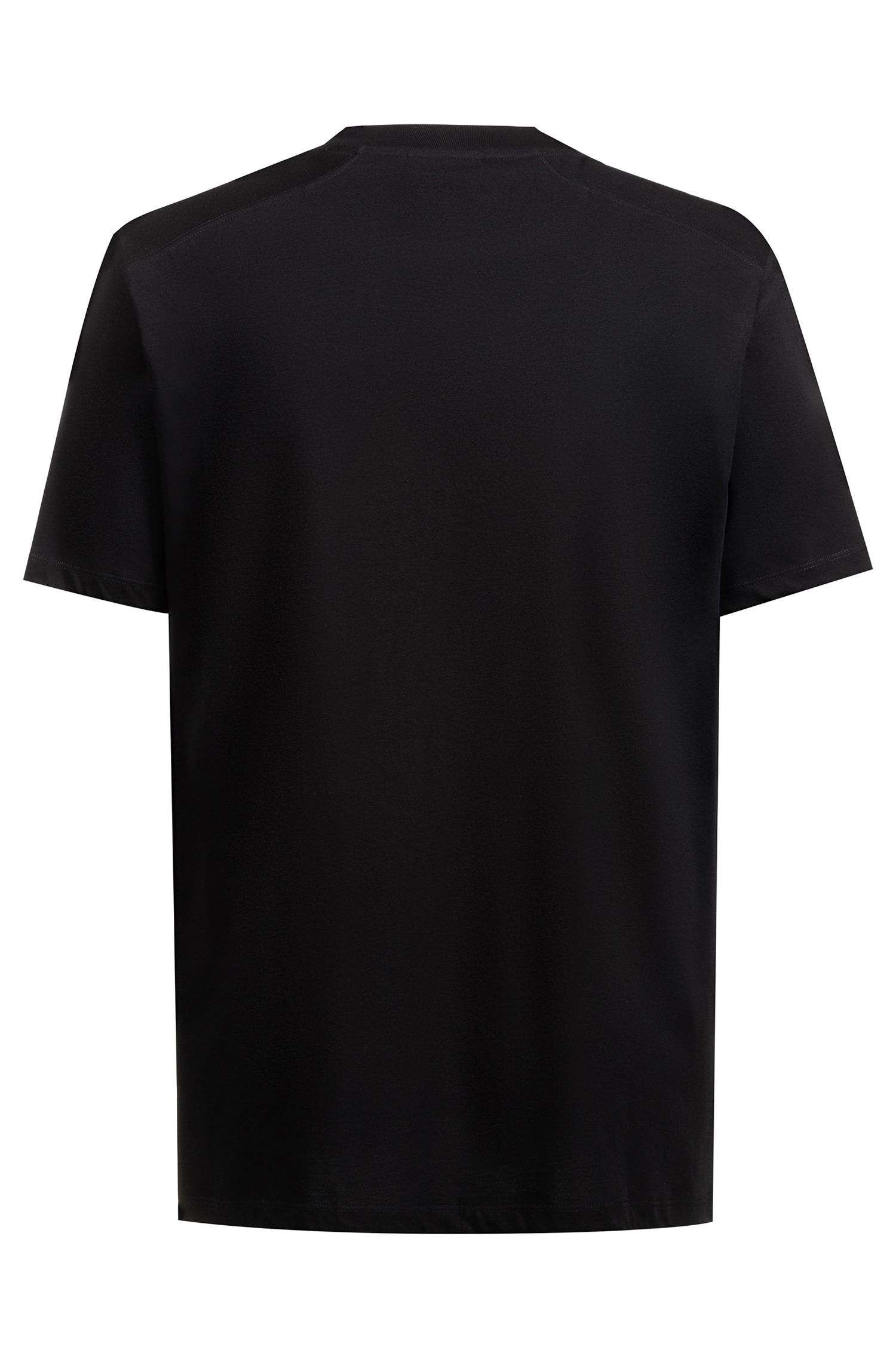 Relaxed-fit T-shirt in cotton with retro-graphic print, Black