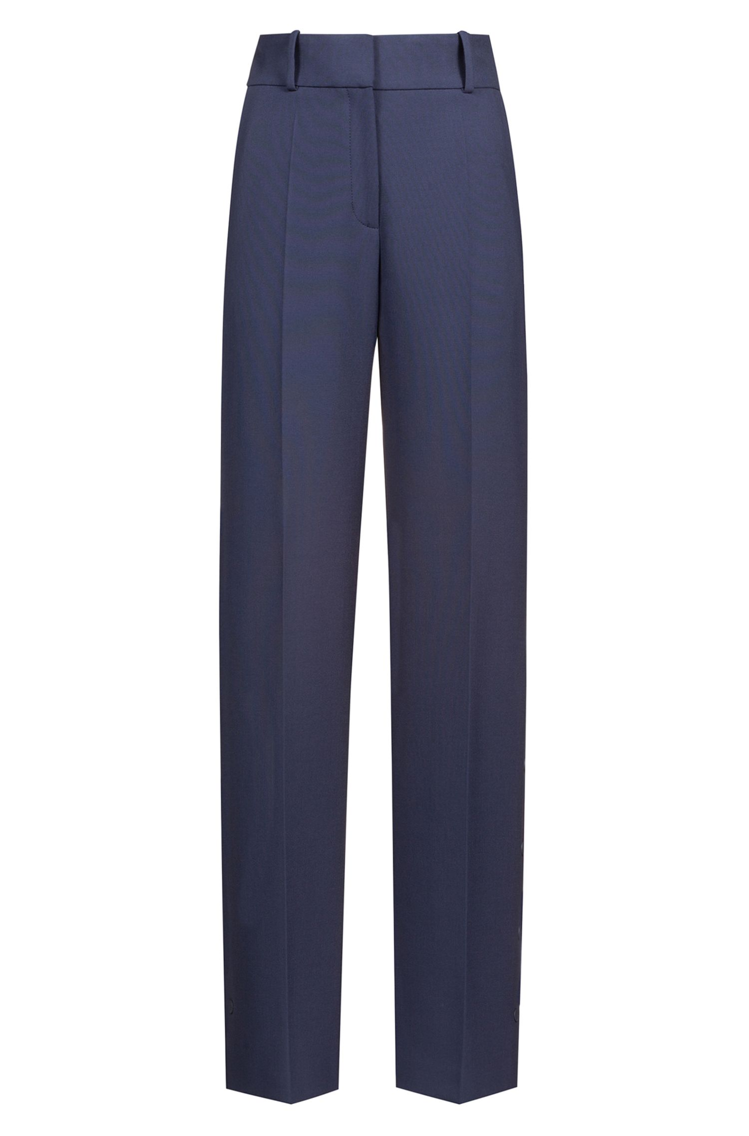 Regular-fit wide-leg pants in stretch fabric, Open Blue