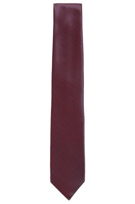 a01ca8c0fcb5 BOSS - Micro-pattern tie in a technical-blend jacquard
