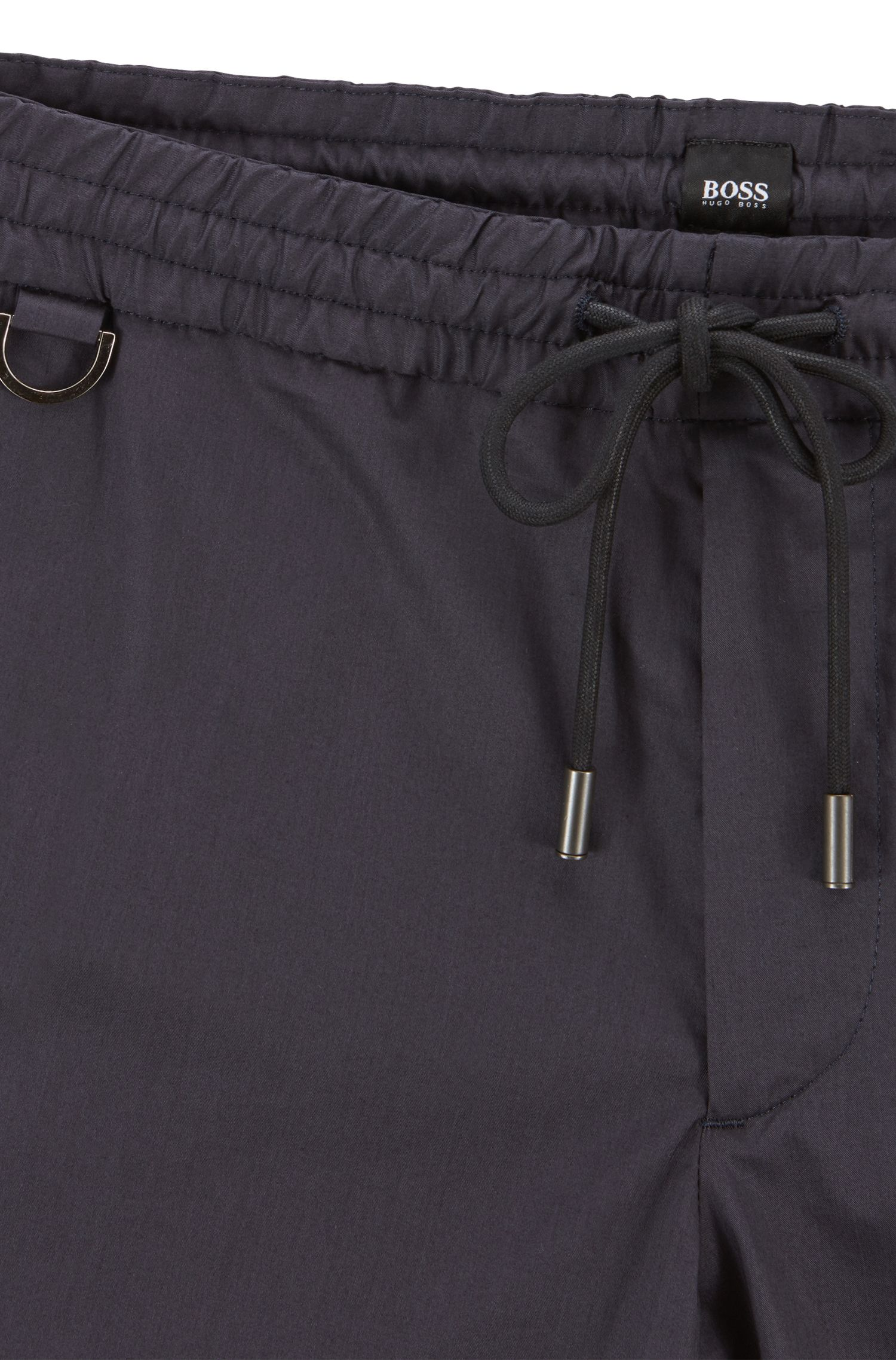 Slim-fit pants in Italian stretch cotton , Dark Blue