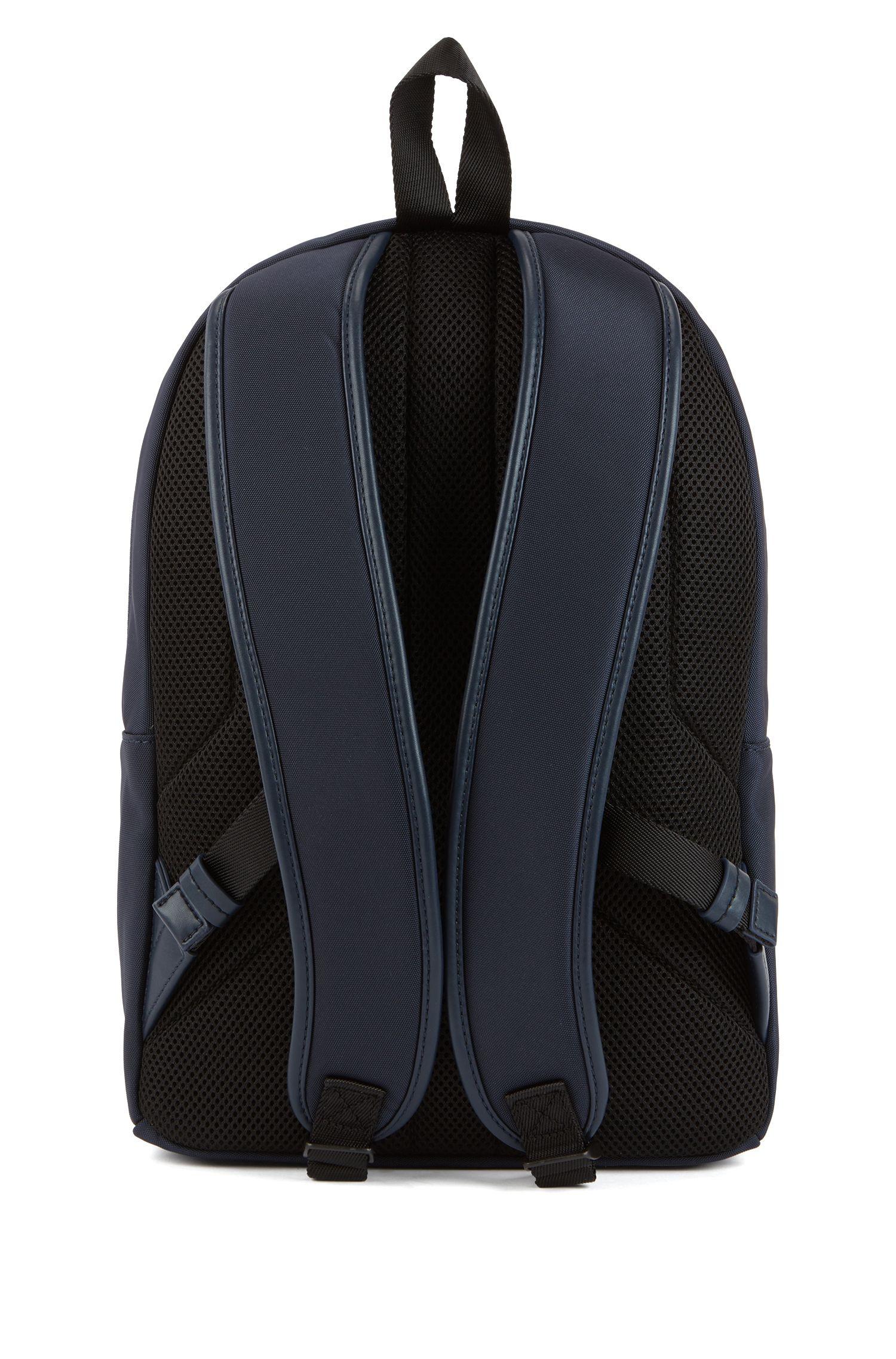Lightweight backpack with seasonal-print rubber logo, Dark Blue