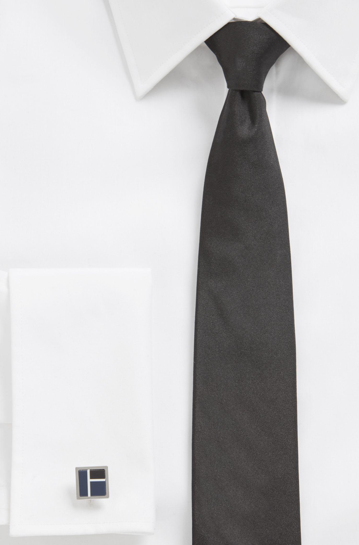 Square cufflinks with color-block enamel, Dark Blue