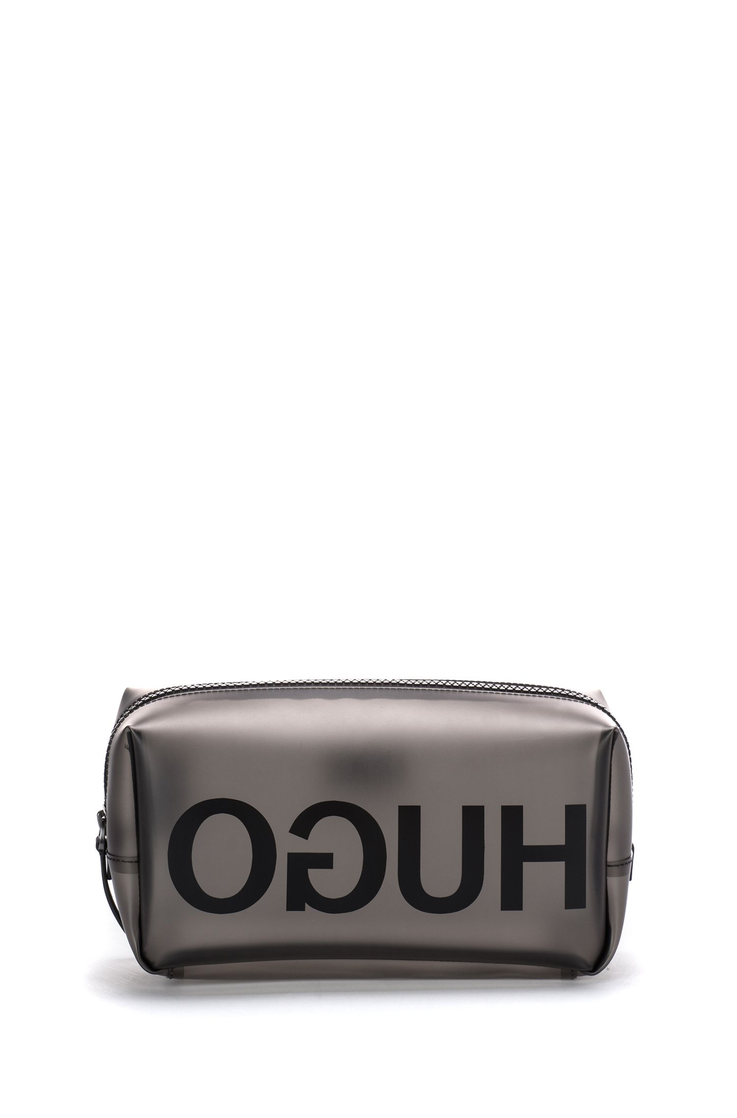 Translucent toiletry bag with reversed logo, Transparent