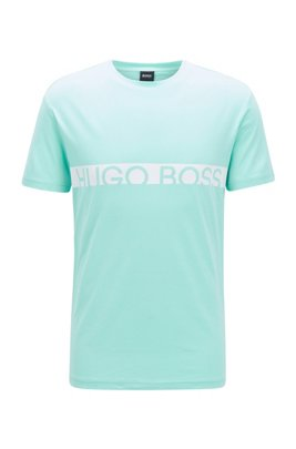 Slim-fit logo T-shirt with UPF50+ finishing, Light Green