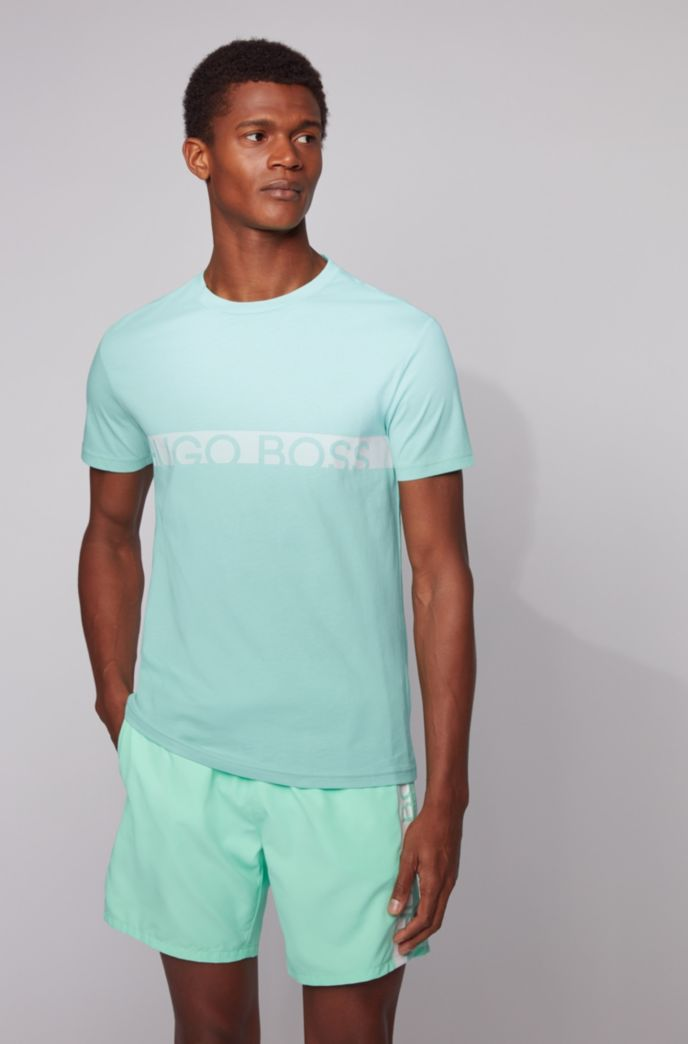 Slim-fit logo T-shirt with UPF50+ finishing