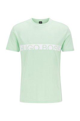Slim-fit logo T-shirt with UPF50+ finishing, Light Green