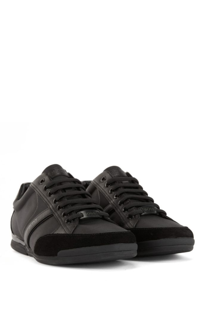 Lace-up hybrid sneakers with moisture-wicking lining