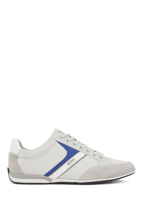 Lace-up hybrid sneakers with moisture-wicking lining, Light Grey