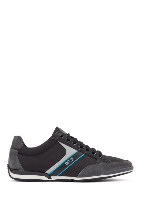 Lace-up hybrid sneakers with moisture-wicking lining, Open Grey