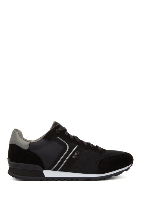 Running-inspired hybrid sneakers with bamboo-charcoal lining, Black