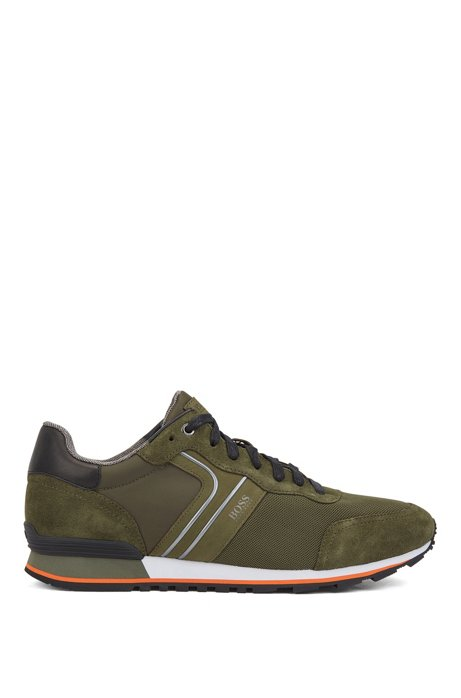 Running-inspired hybrid sneakers with bamboo-charcoal lining, Dark Green