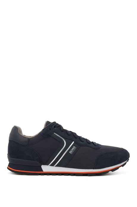 Running-inspired hybrid sneakers with bamboo-charcoal lining, Dark Blue