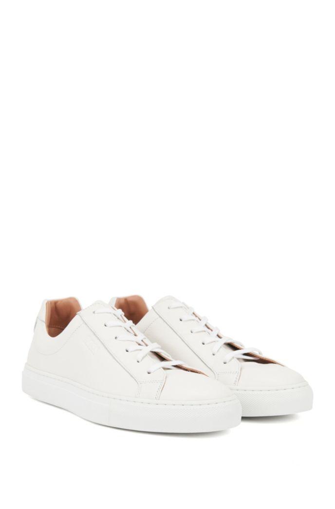 Low-cut sneakers in Italian leather