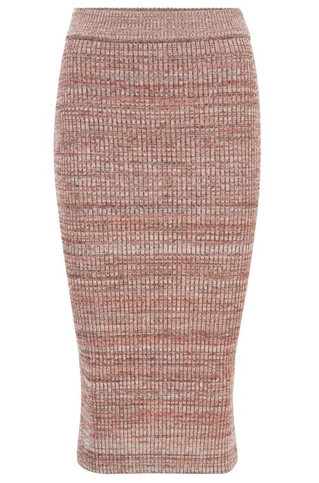 Slim-fit skirt in five-color stretch mouliné, Assorted-Pre-Pack