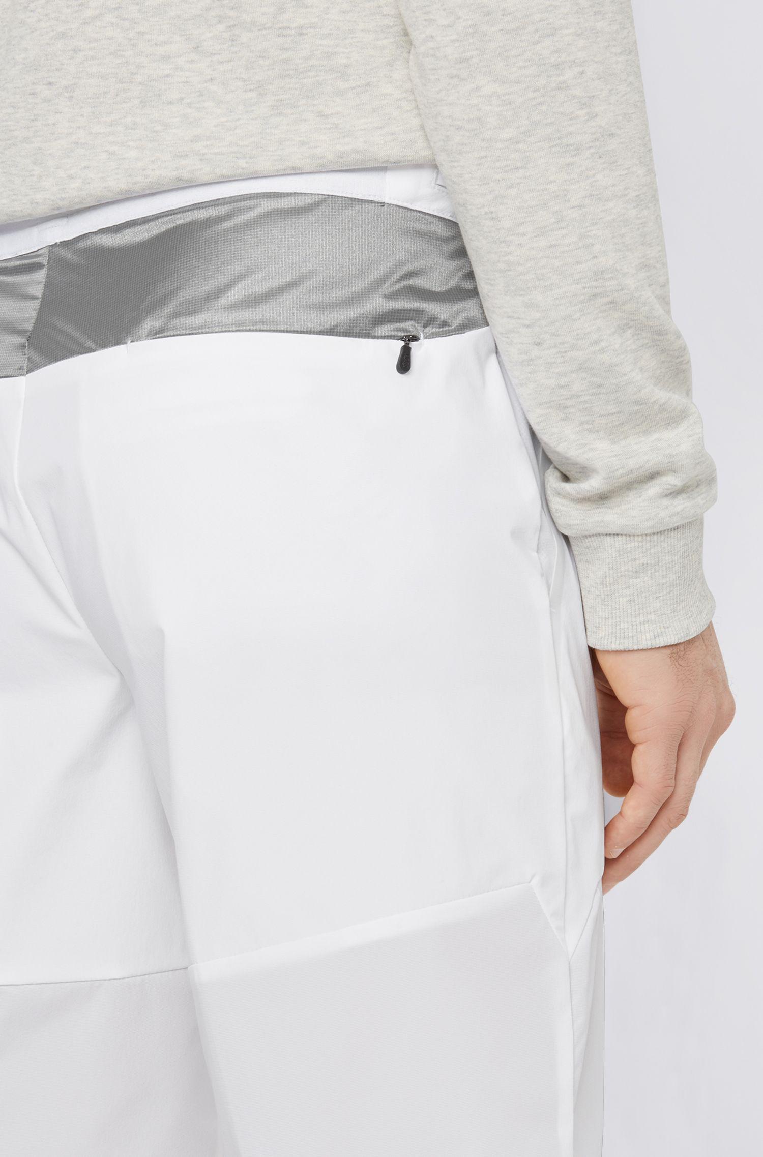 Multipurpose slim-fit shorts in lightweight stretch fabric, White