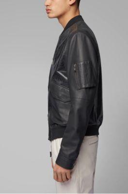 3ecaa104e Bomber jacket in mixed nappa leather