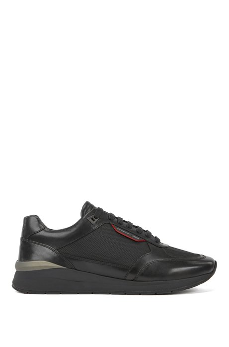 Porsche x BOSS sneakers with hybrid uppers, Black